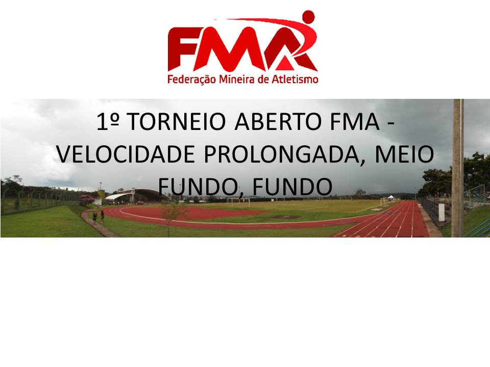 1º TORNEIO ABERTO FMA - VELOCIDADE PROLONGADA, MEIO FUNDO, FUNDO
