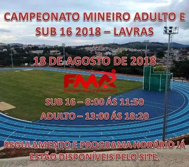 CAMPEONATO MINEIRO ADULTO & SUB 16 - 2018